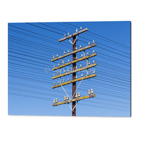 1768 railway power communications signalling cable pole acrylic wall art photo print