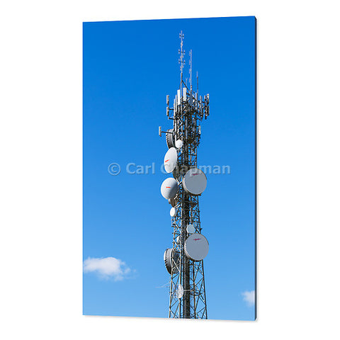 1446 cellular microwave telecom communications antenna tower acrylic wall art photo print
