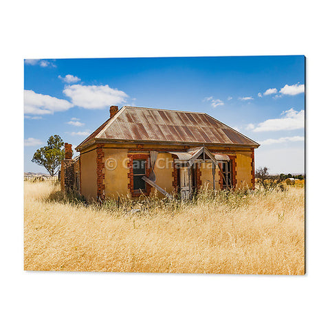 3205 Dilapidated old sandstone farm house acrylic wall art photo print