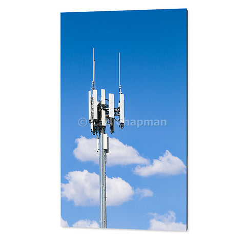 3478 cellular telecom antenna against cumulus cloud acrylic wall art photo print