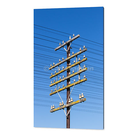 1769 railway power communications signalling cable pole acrylic wall art photo print