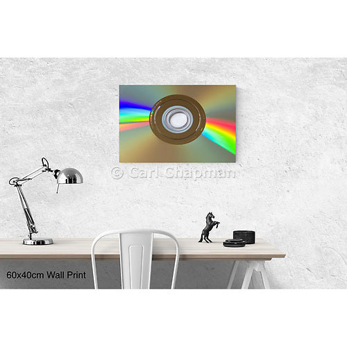 1522 DVD disk light refraction acrylic wall art photo print