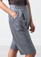 Silk Shorts in Grey