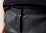 Leather Panel Trouser in Black