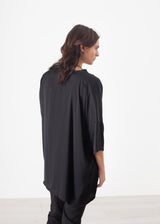 Unbalanced Cardigan in Black