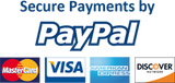 Secure Payments by PayPal, and all major credit and debit cards