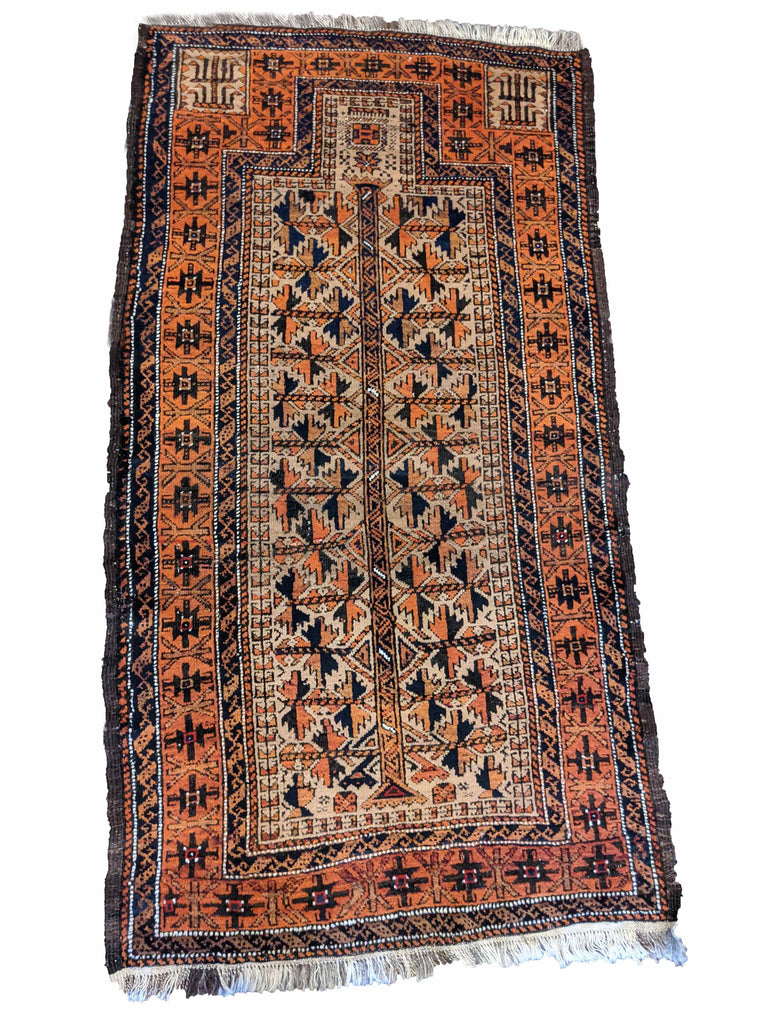 160 X 80 cm Old Baluch tree prayer rug (OB0404)