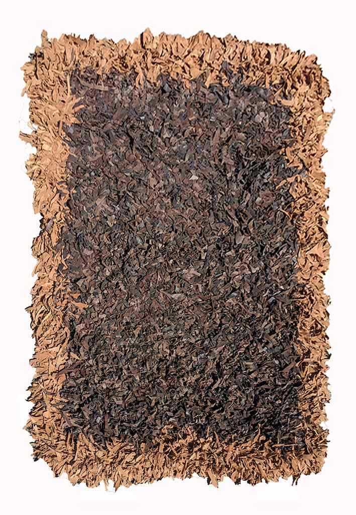 180 X 123 cm Modern Hand knotted leather rug (MH0431)