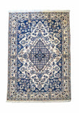 196 x 115 cm silk and wool fine persian nain rug (SW0437)