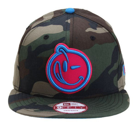 Yums x New Era 'Classic Outline' Snapback - Camo / Pink
