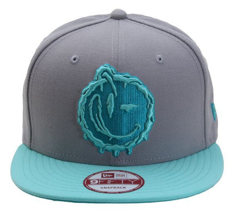 Yums x New Era 'Melted' Snapback - Grey / Blue