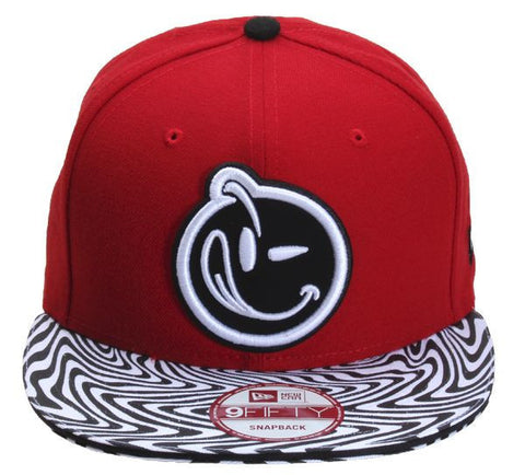 Yums x New Era 'Trippy' Snapback - Red / Black / White