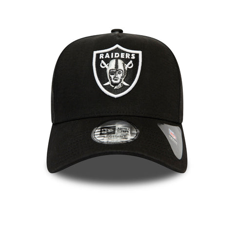 New Era x Raiders A-Frame 940 Trucker Cap - Washed Black
