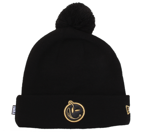 Yums x New Era 'Classic Outline' Pom Beanie - Black / Gold