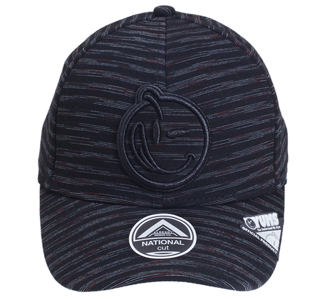 Yums Classic Outline Stripe Snapback Trucker Cap - Black