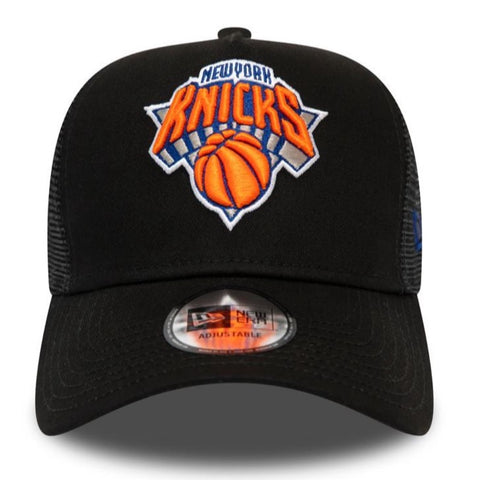 New Era Knicks A-Frame 940 Trucker Cap -  Black