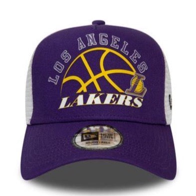 New Era LA Lakers Graphic Trucker Cap - Purple