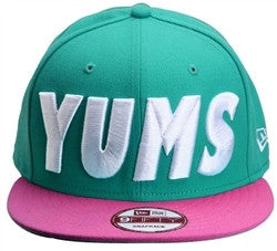 Yums x New Era 'Bold' Snapback - Teal / Rose