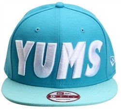 Yums x New Era 'Bold' Flatcap - Blue / Mint