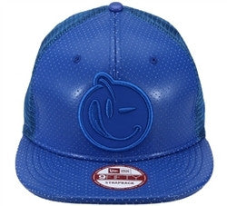 Yums X New Era Classic 'Lux Mesh' Strapback - Blue Leather
