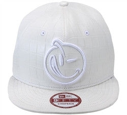 Yums X New Era 'Classic Lux' 9Fifty Snapback - Triple White Crocodile