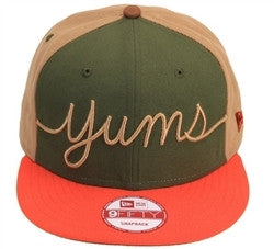 Yums X New Era 'Cursive' Snapback Rifle Green/Tan/Brown/Orange
