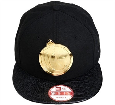Yums X New Era Metal Face 9FIFTY Snapback Cap - Black/Gold