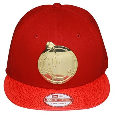 Yums X New Era Custom Metal Face 9Fifty Strapback - Red /  Gold