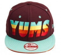 Yums x New Era 'Good Times' Snapback - Burgandy / Mint