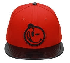 Yums x New Era Classic 'Face' Snapback  - Black / Red