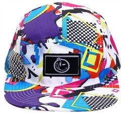 Yums x New Era Jamz 5 Panel StrapBack - White / Neon