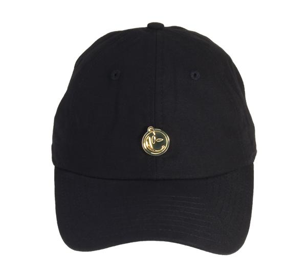 Yums Metal Face Dad Cap - Black   Gold – YUMS UK 81160559a35
