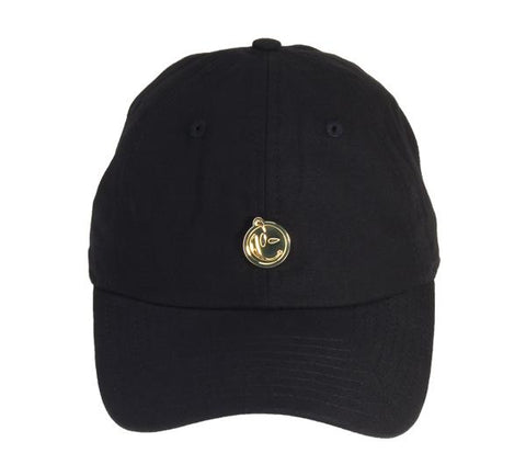 Yums Metal Face Dad Cap - Black / Gold
