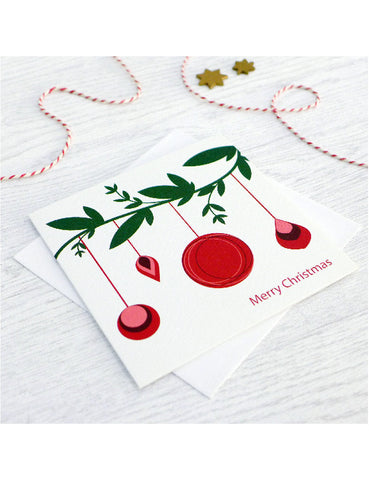 Bauble Branch Christmas Cards (pack of 6)