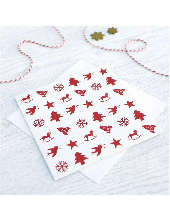 Pack of 5 Toy Collection Christmas Cards