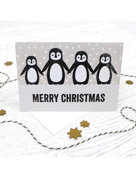 Pack of 5 Christmas Penguins Cards