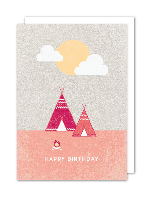 Happy Birthday Teepee by The Strawberry Card Company