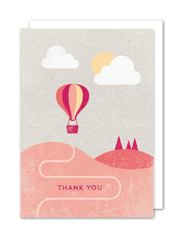 Thank You Hot Air Balloon Card by The Strawberry Card Company