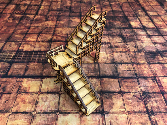 Necromunda Compatible Stair Terrain Set MDF