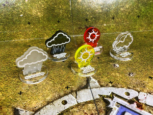 Blood Bowl Compatible Weather Token set