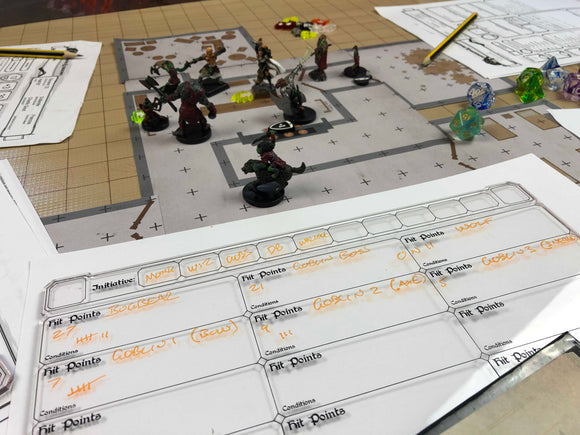 Dungeons & Dragons 5E Compatible DM Tracker Sheet