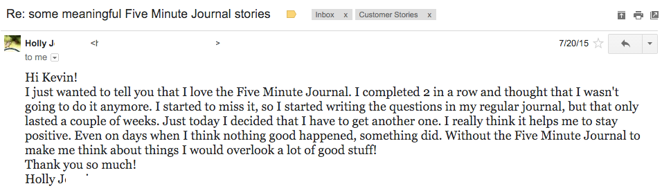 five minute journal review