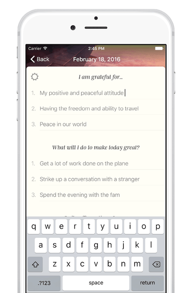Five Minute Journal App