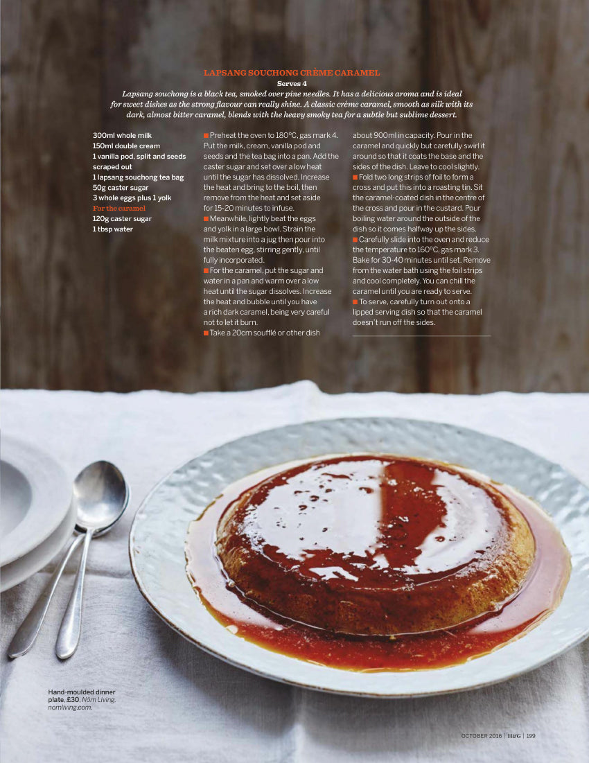 Nom Living Homes & Gardens October 2016 Issue Recipe Food Tableware