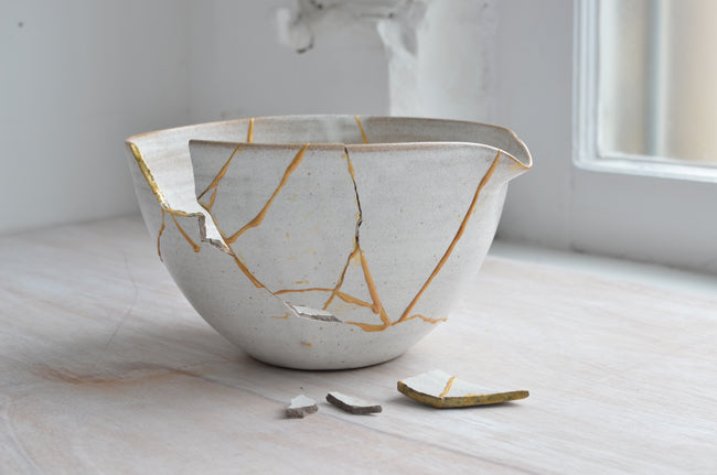 Kintsugi Blog Post Broken Mixing Bowl