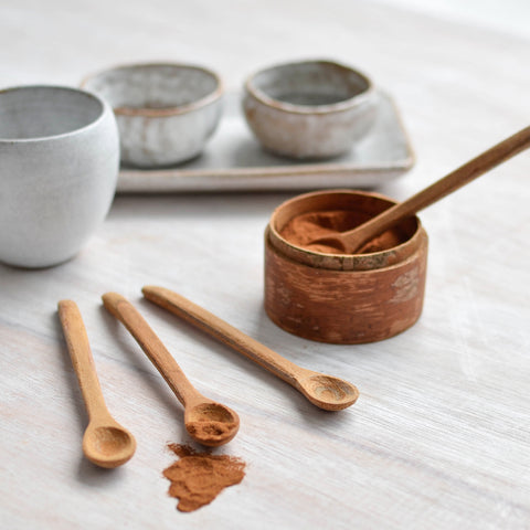 Cinnamon Wood Spice Spoon