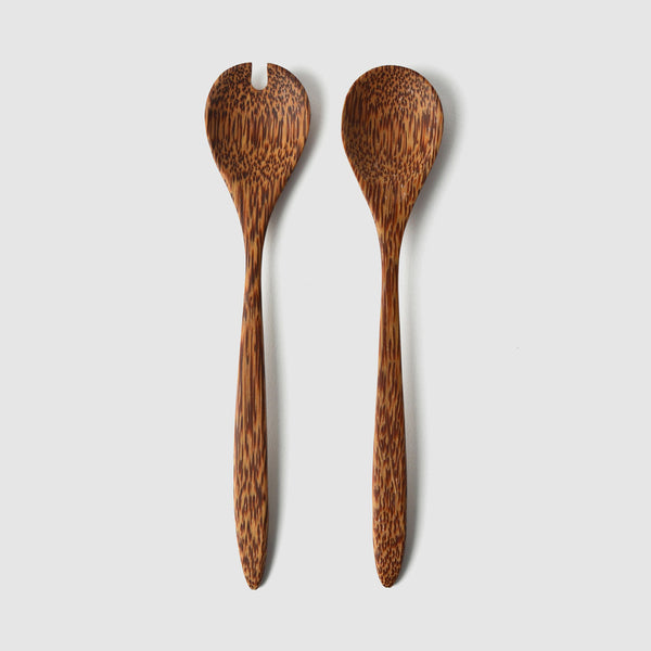 Coconut Wood Mini Salad Server - Nom Living
