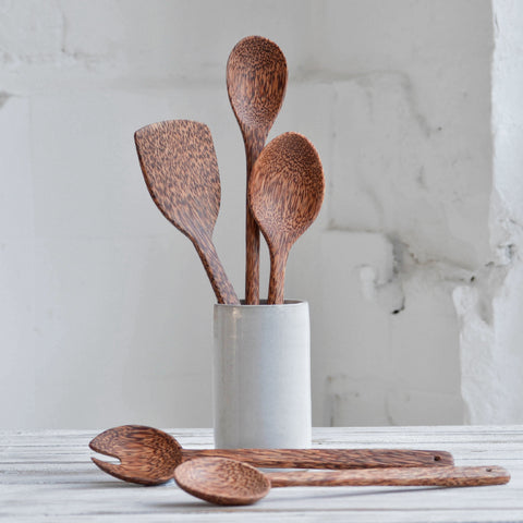Coconut Wood Kitchen Utensils Set