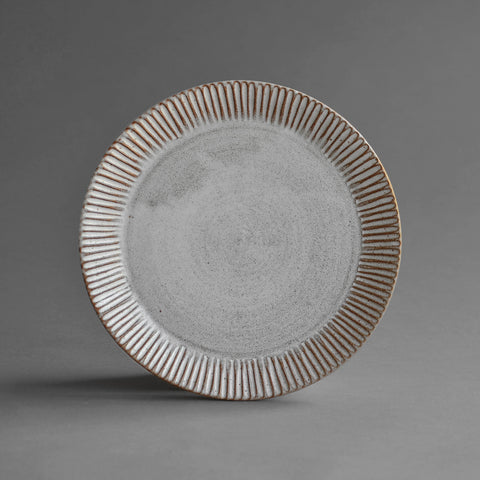Stoneware Fluted Dinner Plate