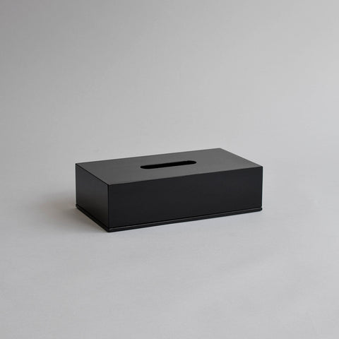 Rectangular Tissue Box, Shiny Black
